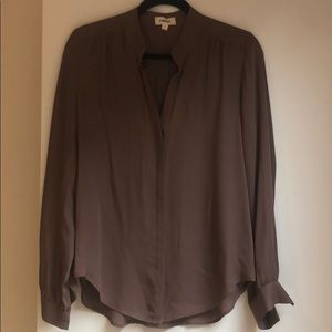 Silk taupe blouse